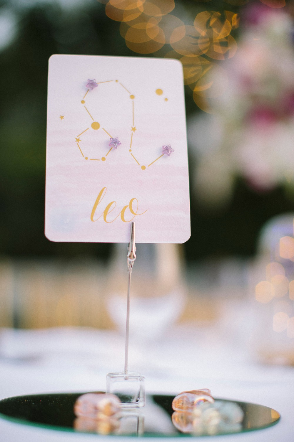 Celestial wedding table name