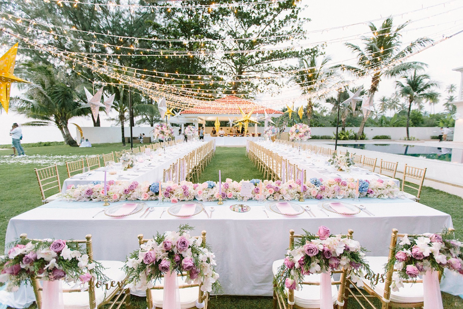 Star studded outdoor reception in Phuket