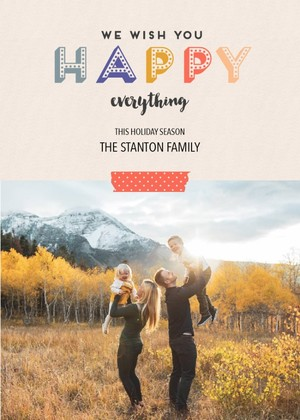 Happy Everything Printable Photo Card
