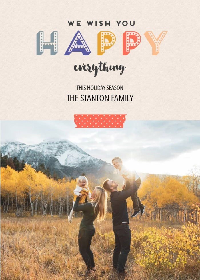 Print: Happy Everything Printable Photo Card