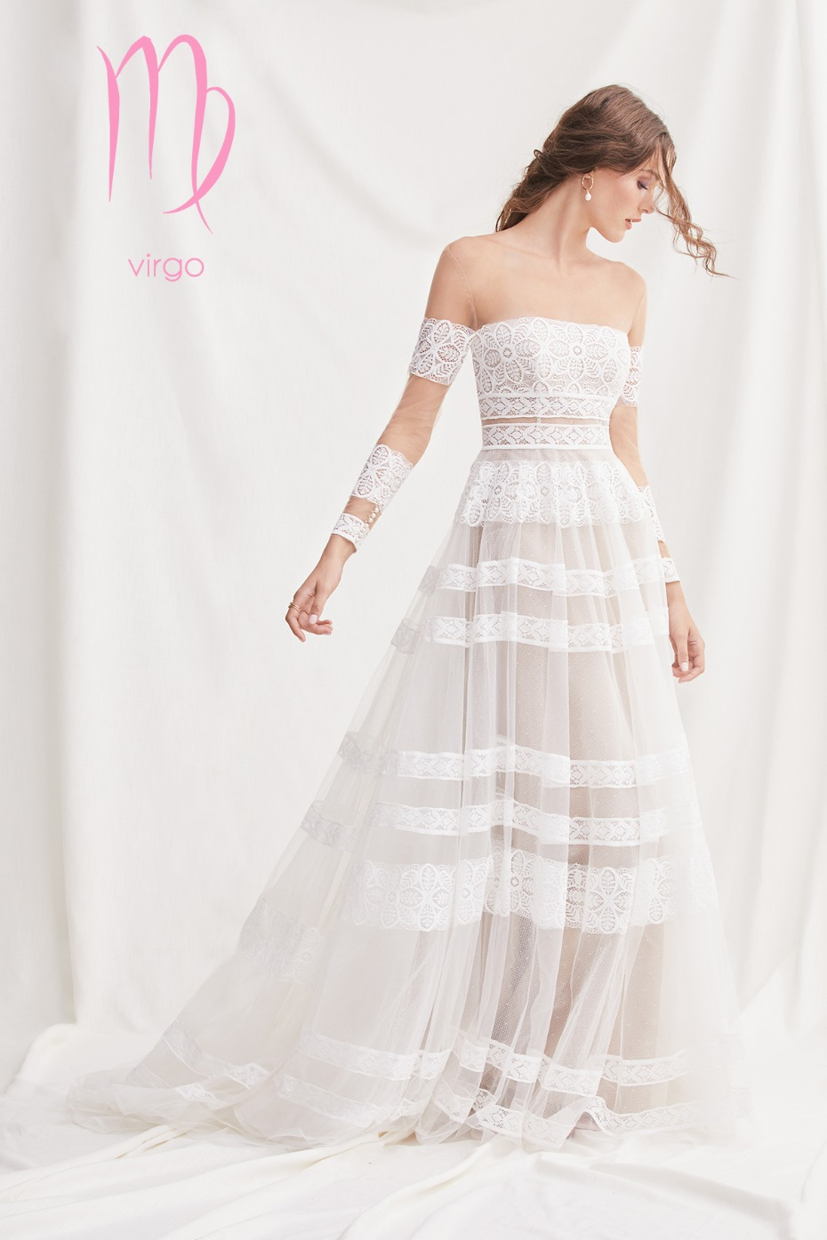 boho inspired gown perfect for the virgo Zodiac