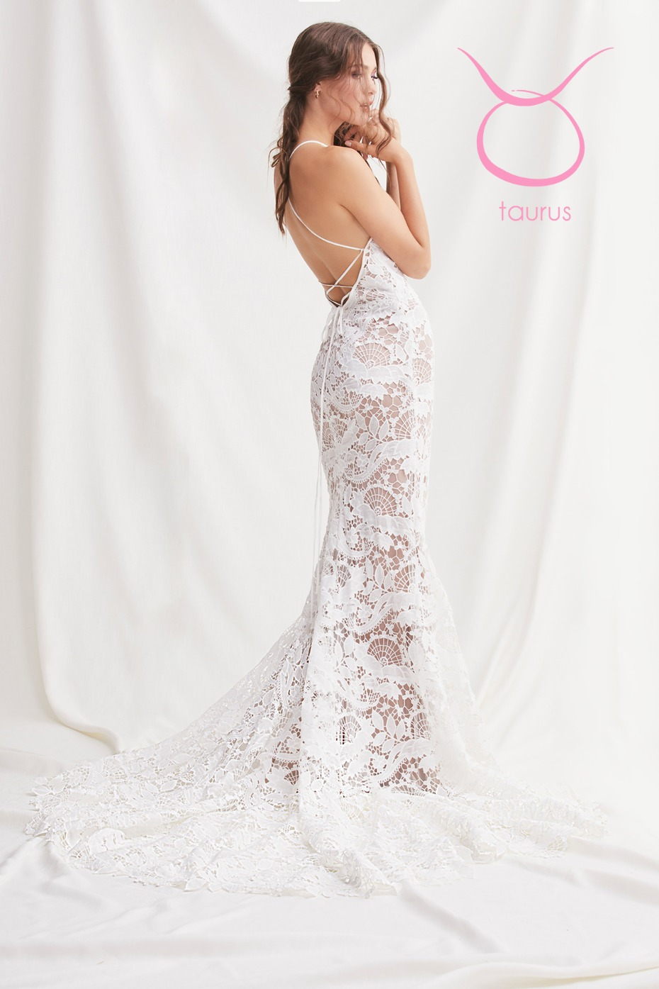 slinky lace strappy back dress for the Taurus Zodiac