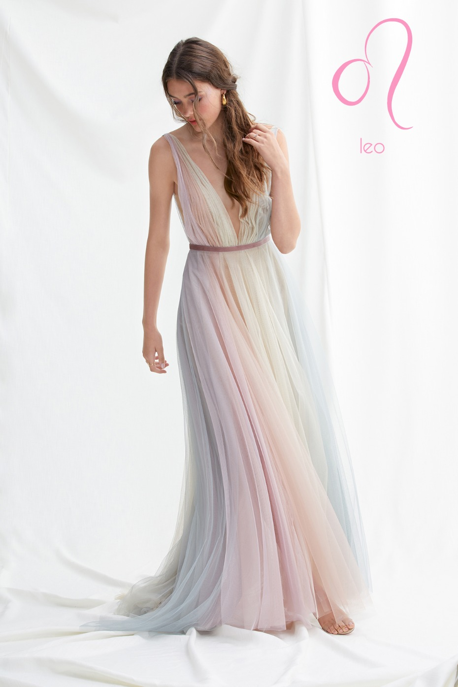 pastel rainbow tulle dress for the Leo Zodiac