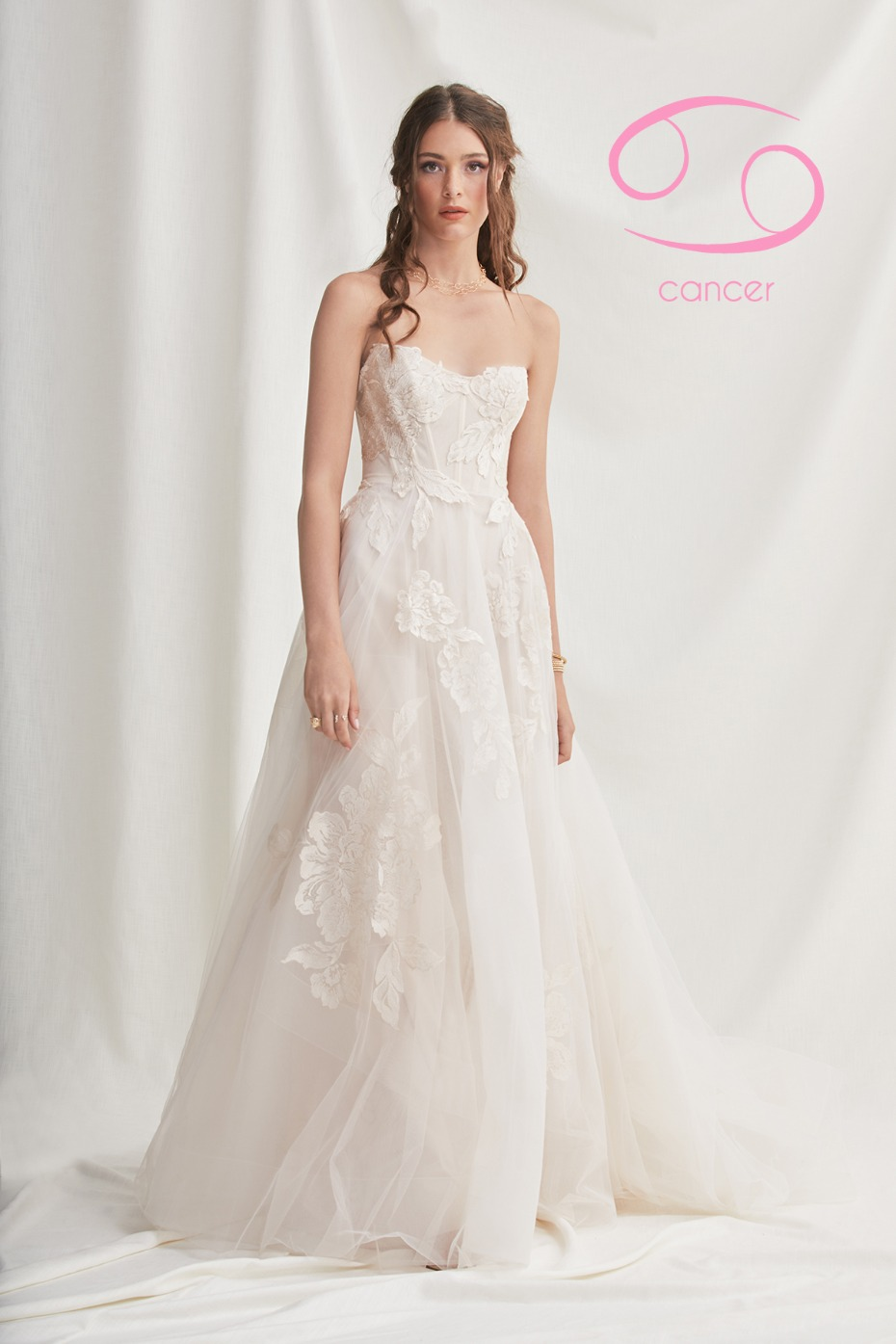 classic aline wedding dress perfect for the Cancer Zodiac