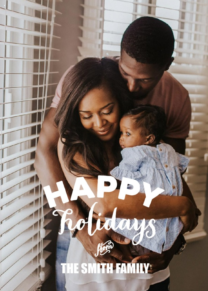 Print: Happy Holidays Photo Card