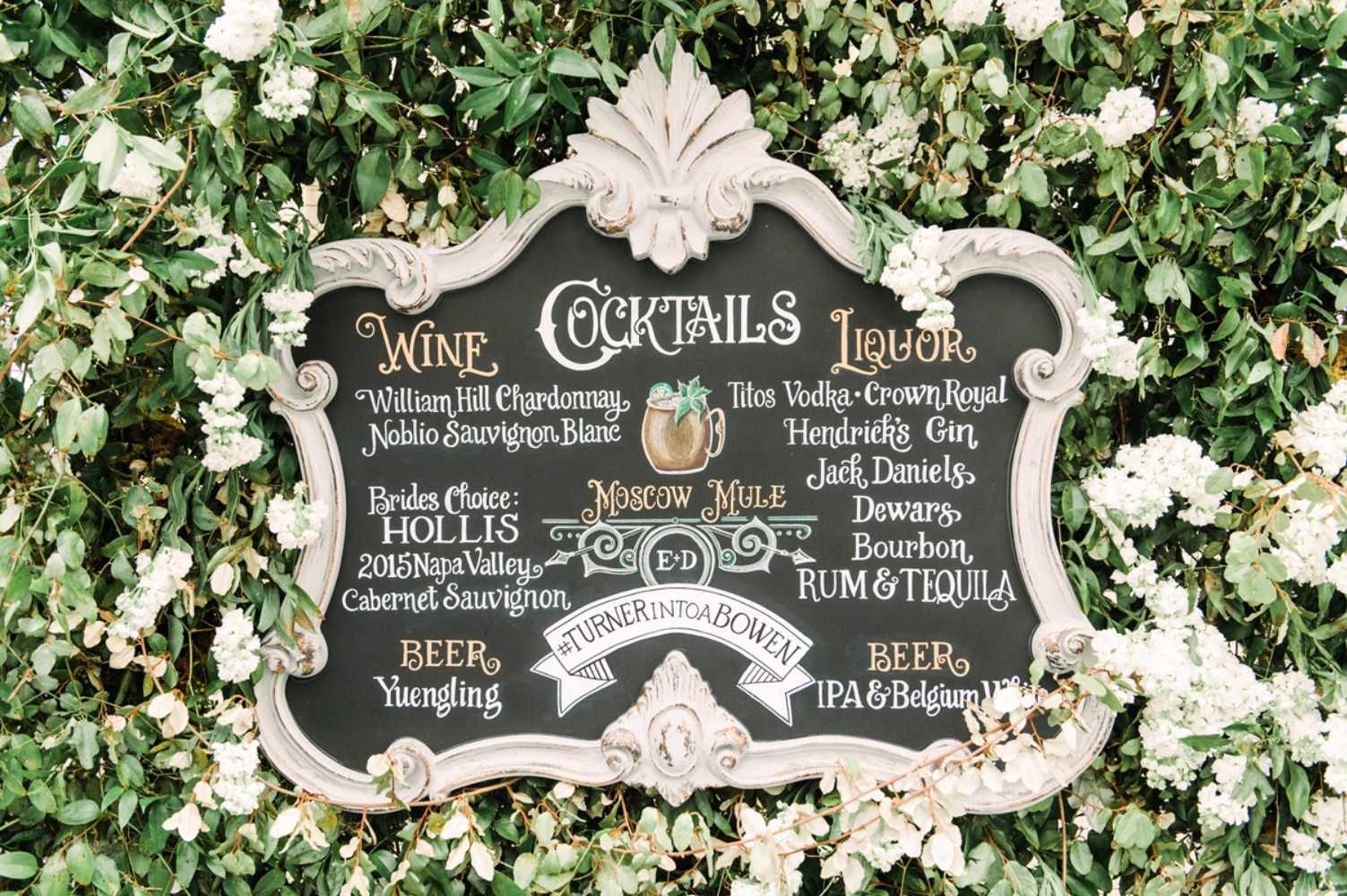 Cocktails wedding sign