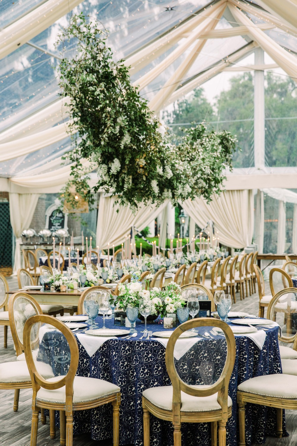 Gorgeous tent wedding