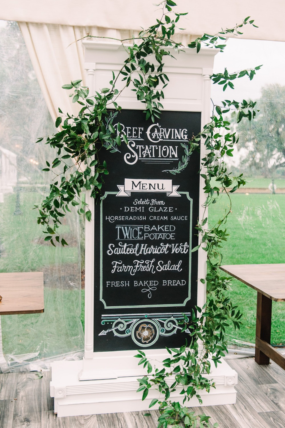Food wedding sign