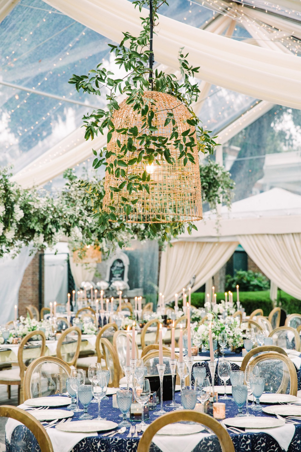 Dreamy wedding reception decor