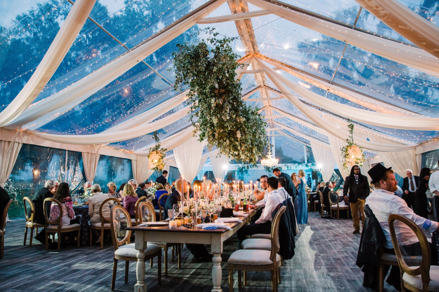 Dreamy tent wedding decor