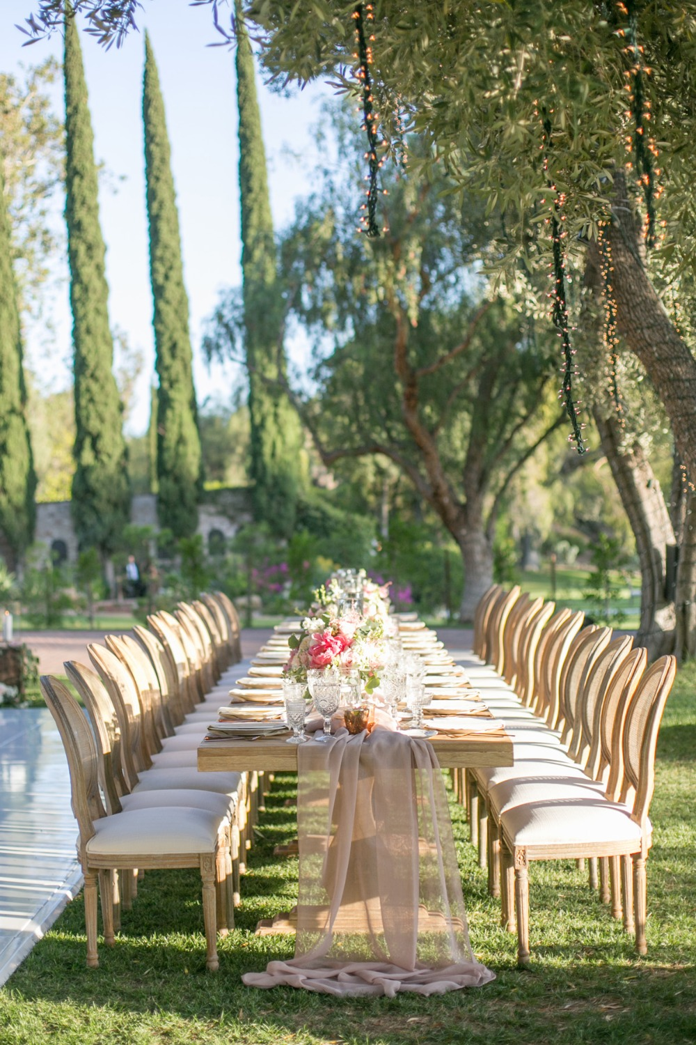 long family style table