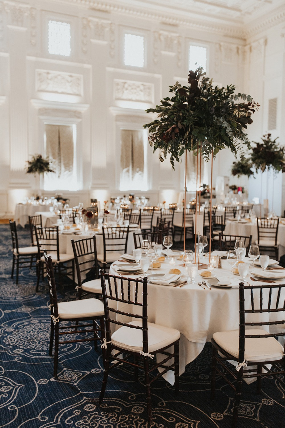 glam ballroom wedding reception