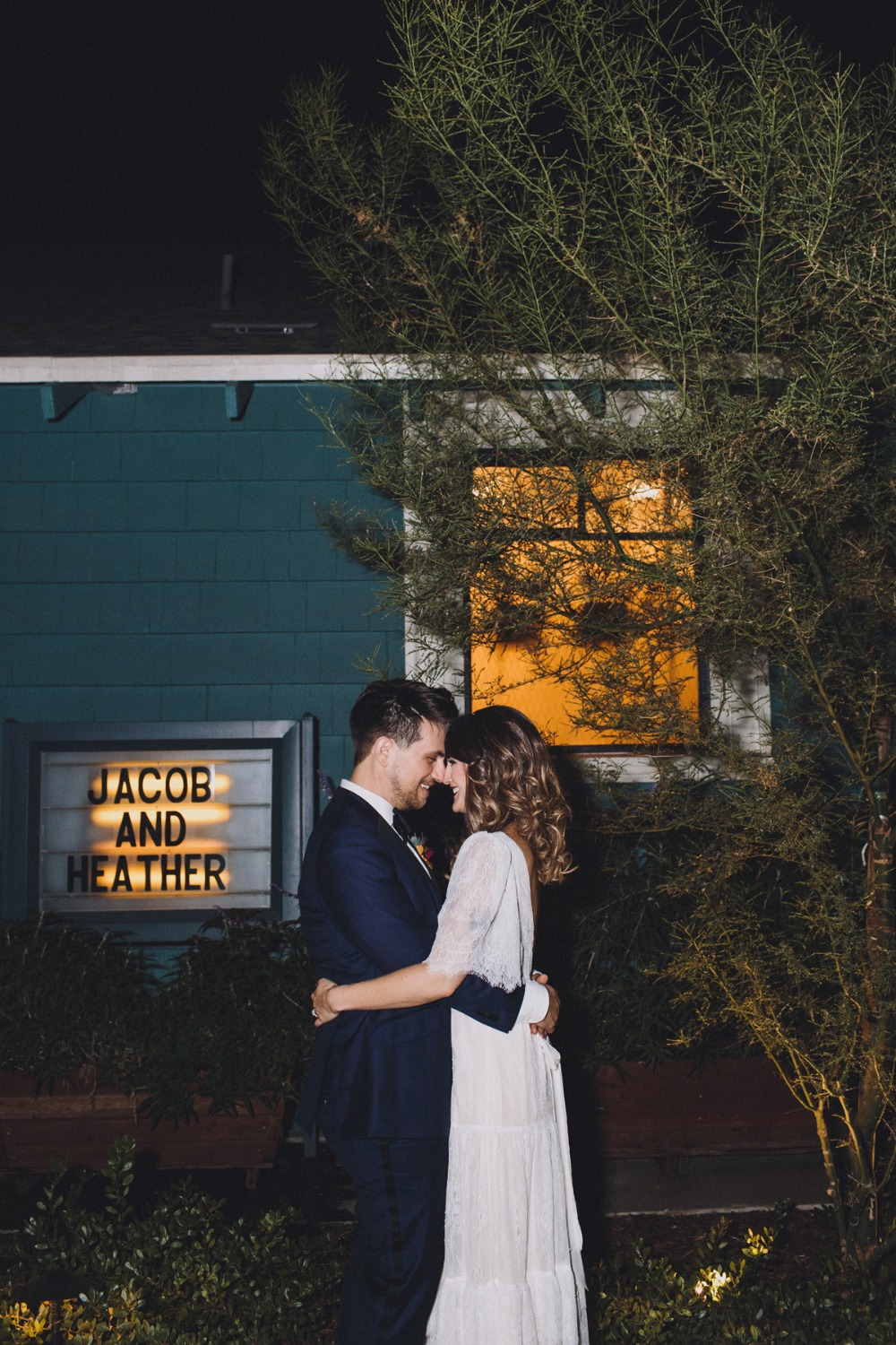 Wedding marquee sign
