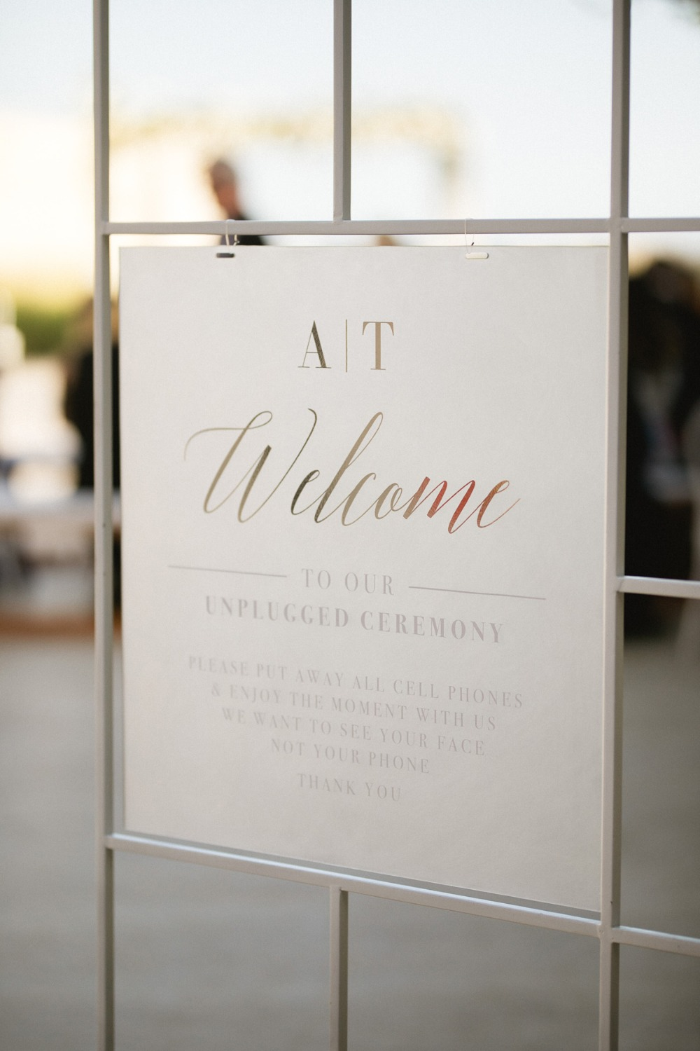 Modern wedding welcome sign