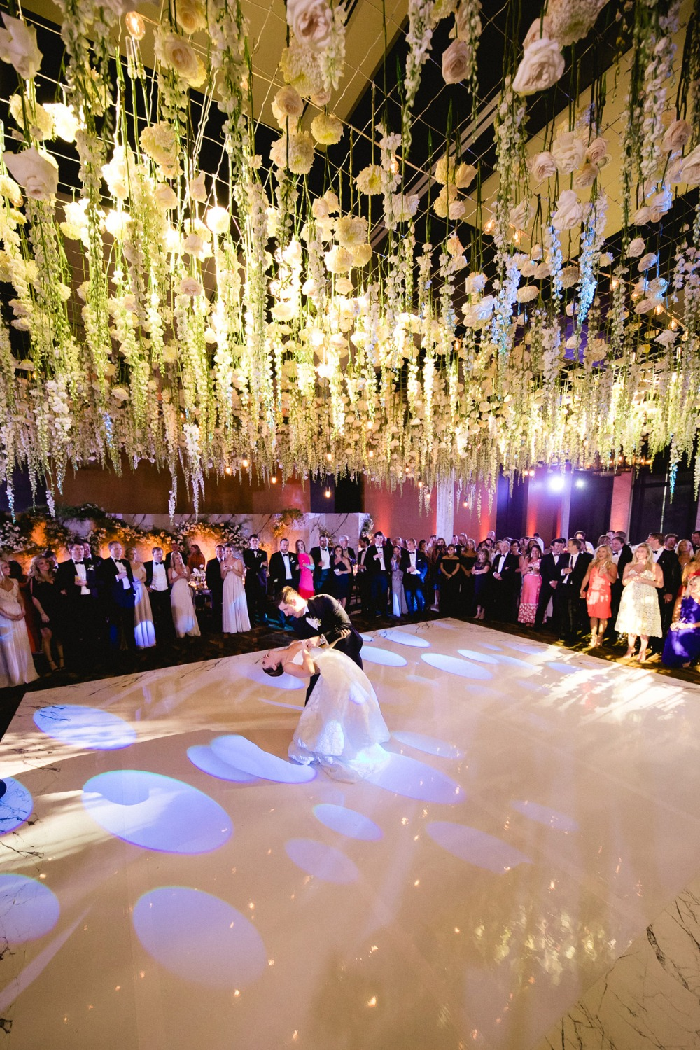 First dance under a canopy of flowers