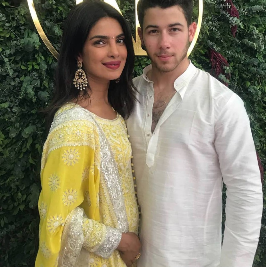 priyanka-and-nick-engagement-ceremony-yellow