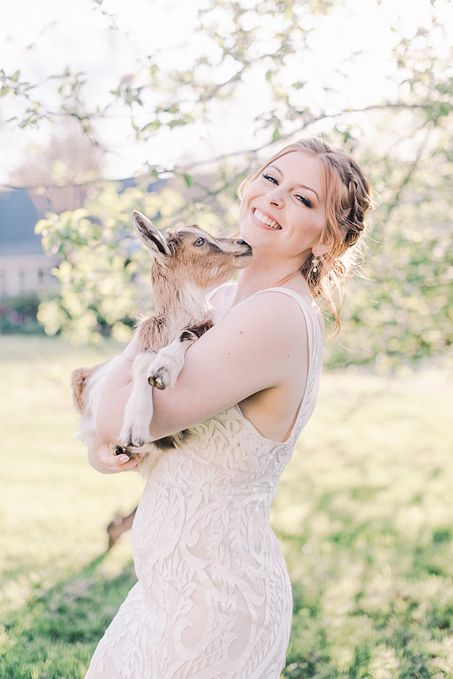 Rose gold AND baby goats!? Say no more!