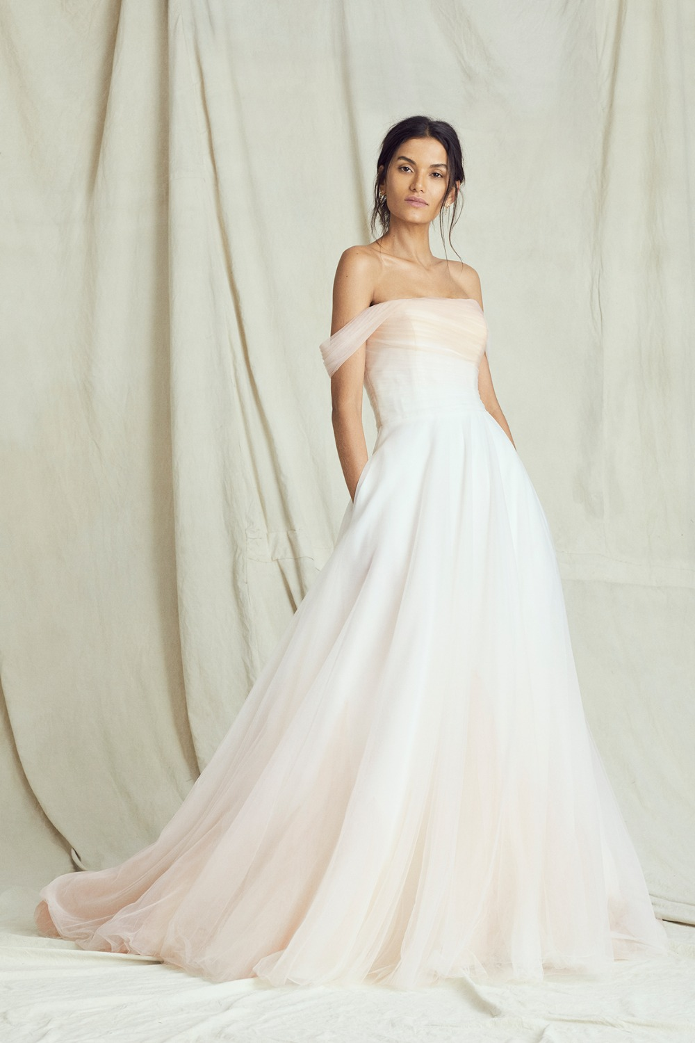 elegant drop sleeve ombre gown by Kelly Faetanini