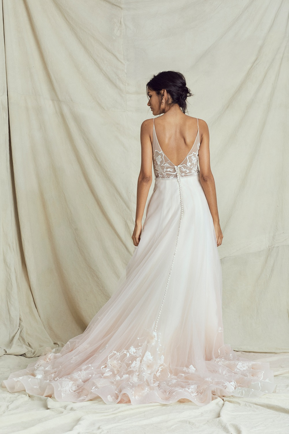 soft ombre tulle dress by Kelly Faetanini