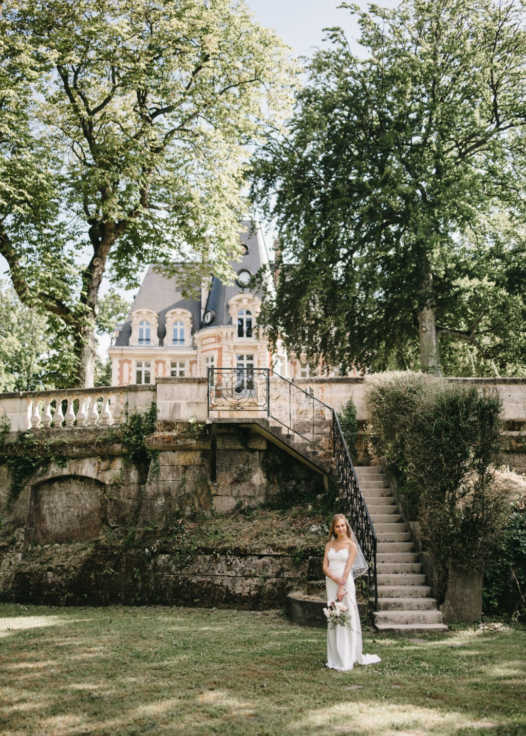 Fairy tale wedding in a castle in France