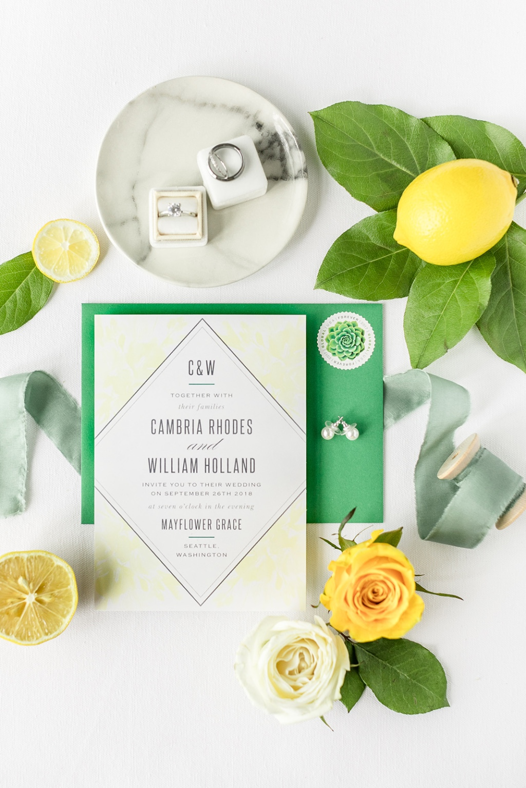 Brighten up your wedding plans with a fun and funky color scheme. This lemon and lime duo is on point!