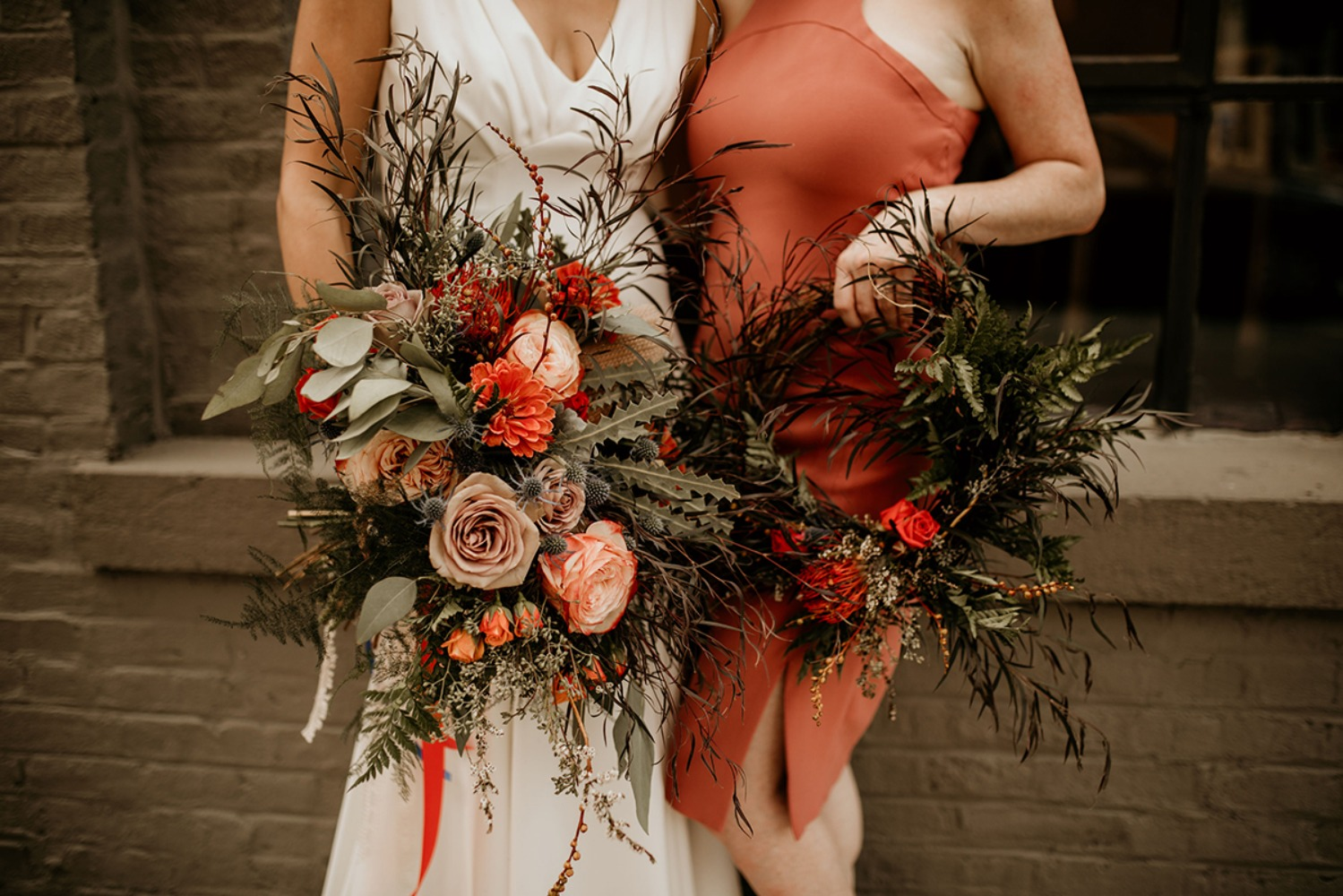 bridesmaid wreath alternative bouquet idea