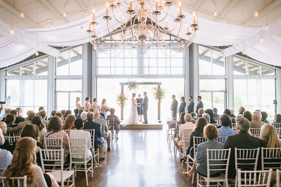 Indoor ceremony at Cold Springs Events