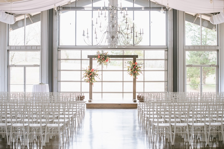 Indoor wedding at Cold Springs Events