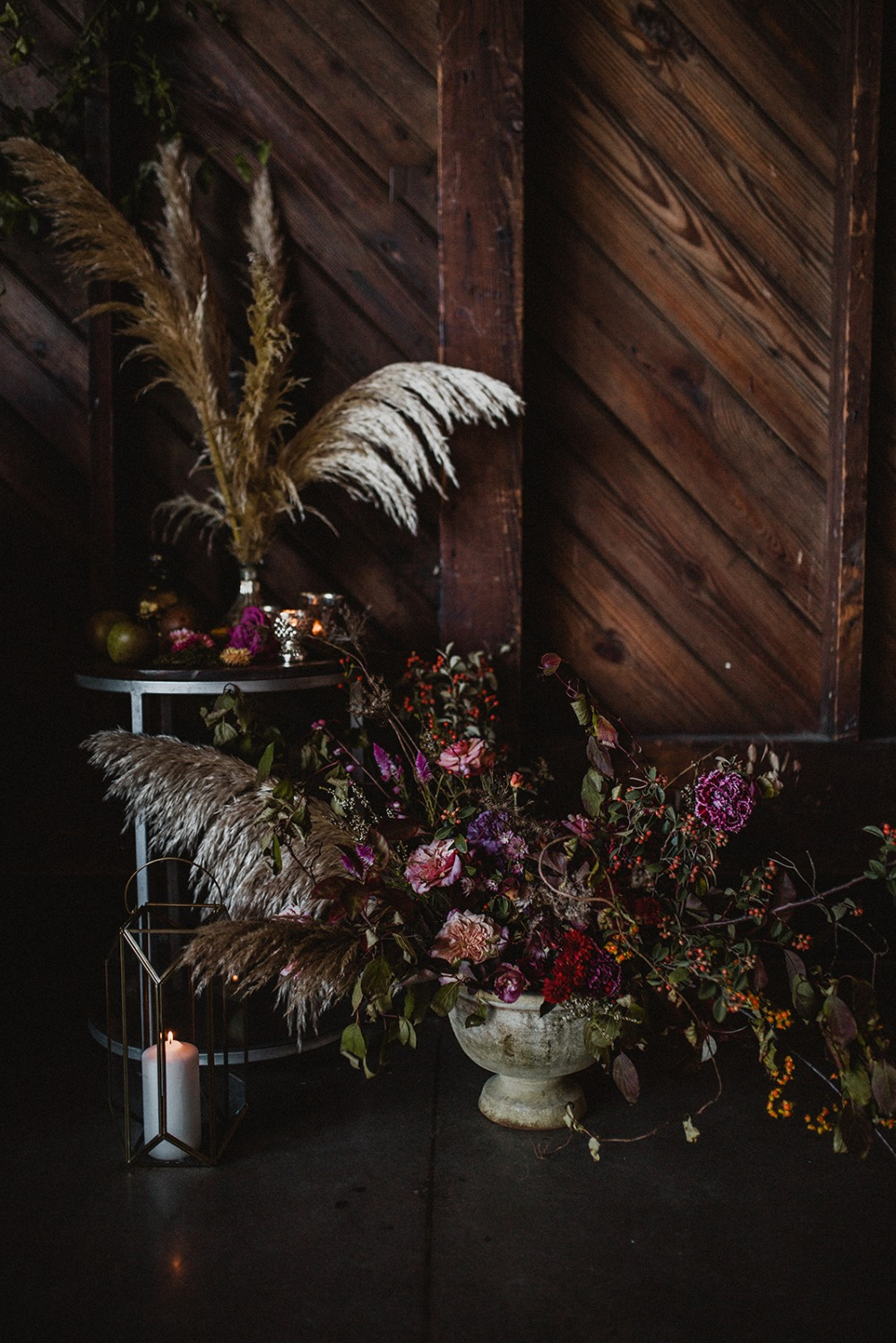late fall floral decor