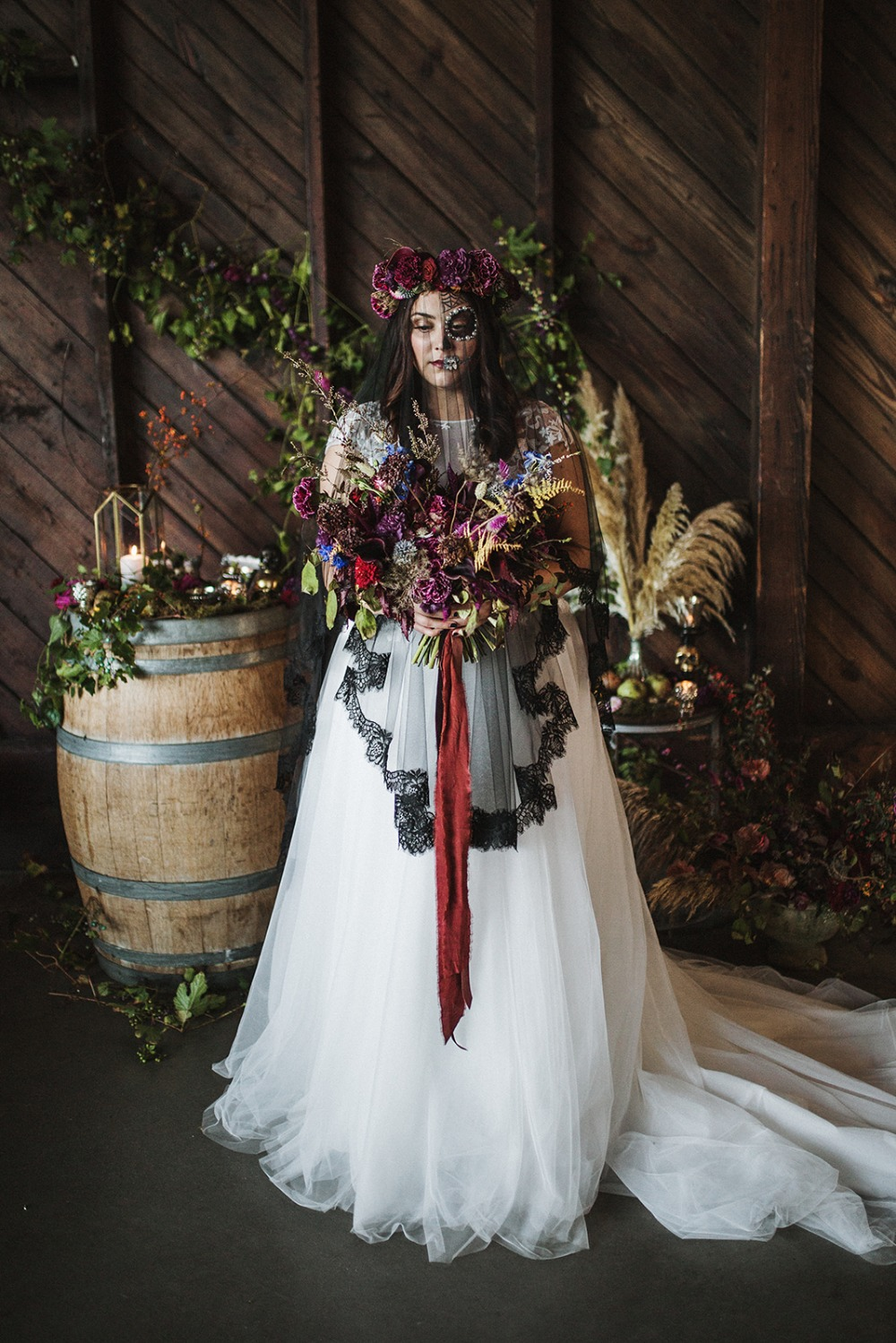 A Day Of The Dead Wedding Inspiration