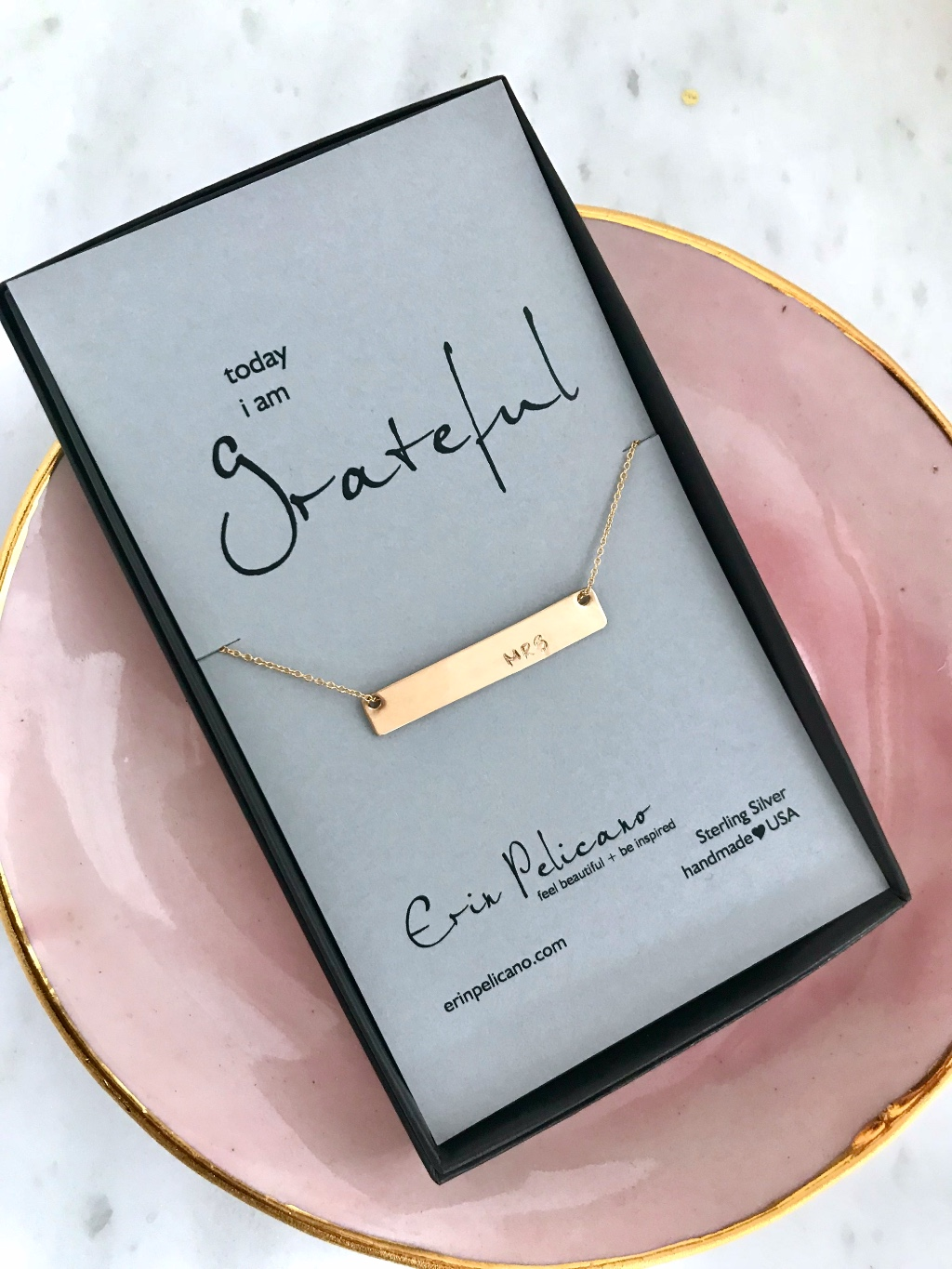 MRS bar necklaces make perfect Bridal Shower surprises!