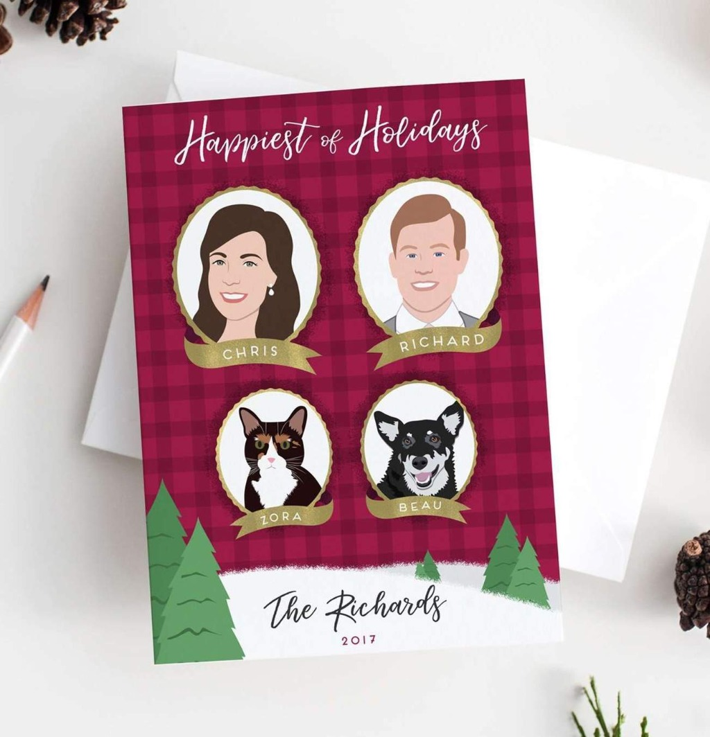 Picking out the perfect holiday card is important, so why not let Miss Design Berry help you? This super cute Holiday Card with Family