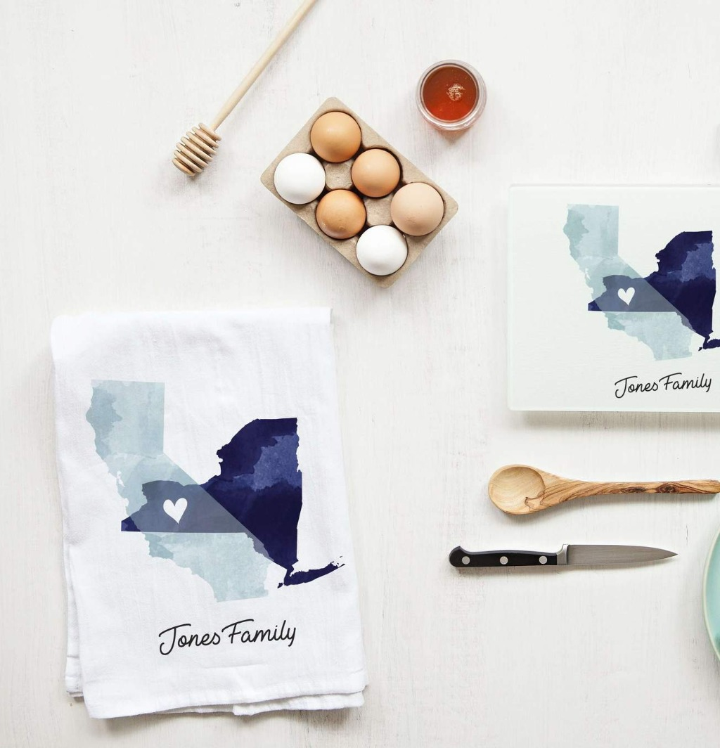 It's never too early to shop for the holidays!! This wonderful State of Love Collection: Tea Towel and Cutting Board Set is perfect
