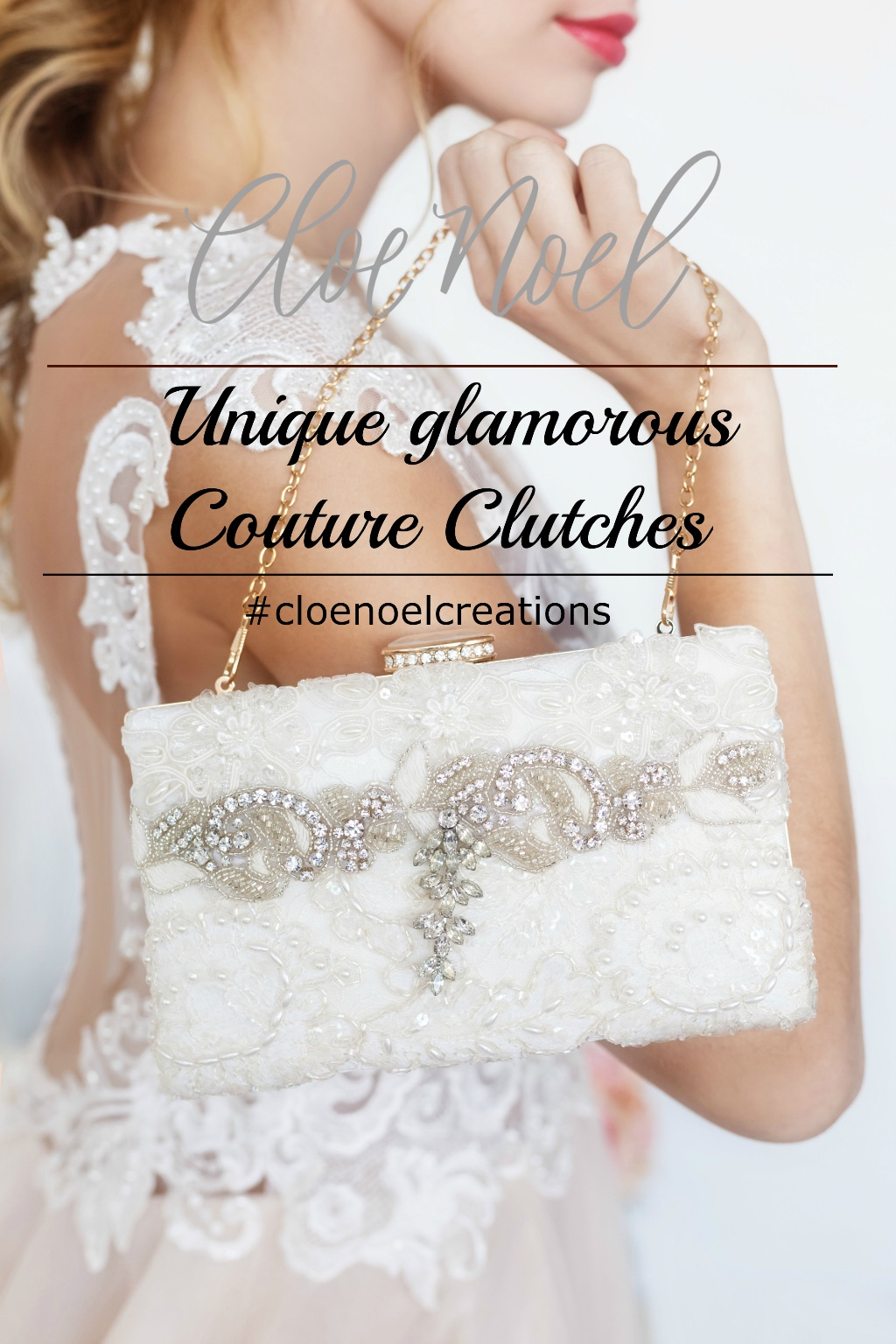 Unique and glamorous couture clutches that finish your bridal look