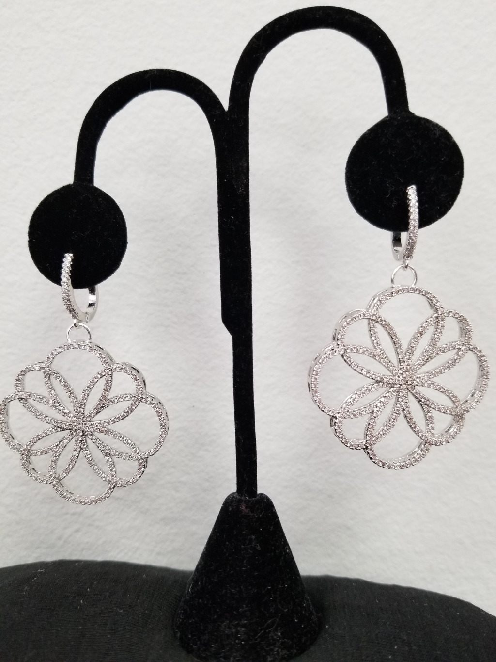 These gorgeous earrings are full of sparkle with all of the pave cubic zirconias!! These are definitely statement earrings!!