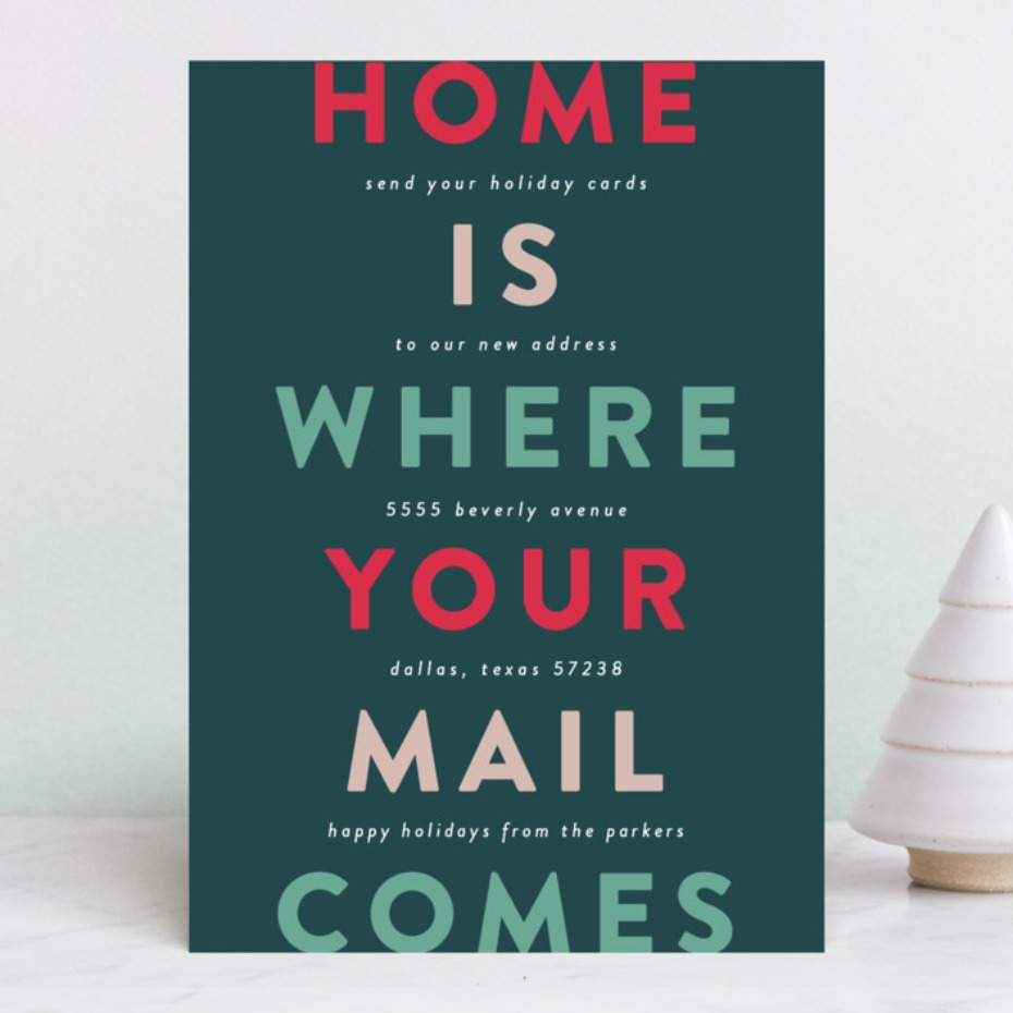 Home is where your mail comes holiday card