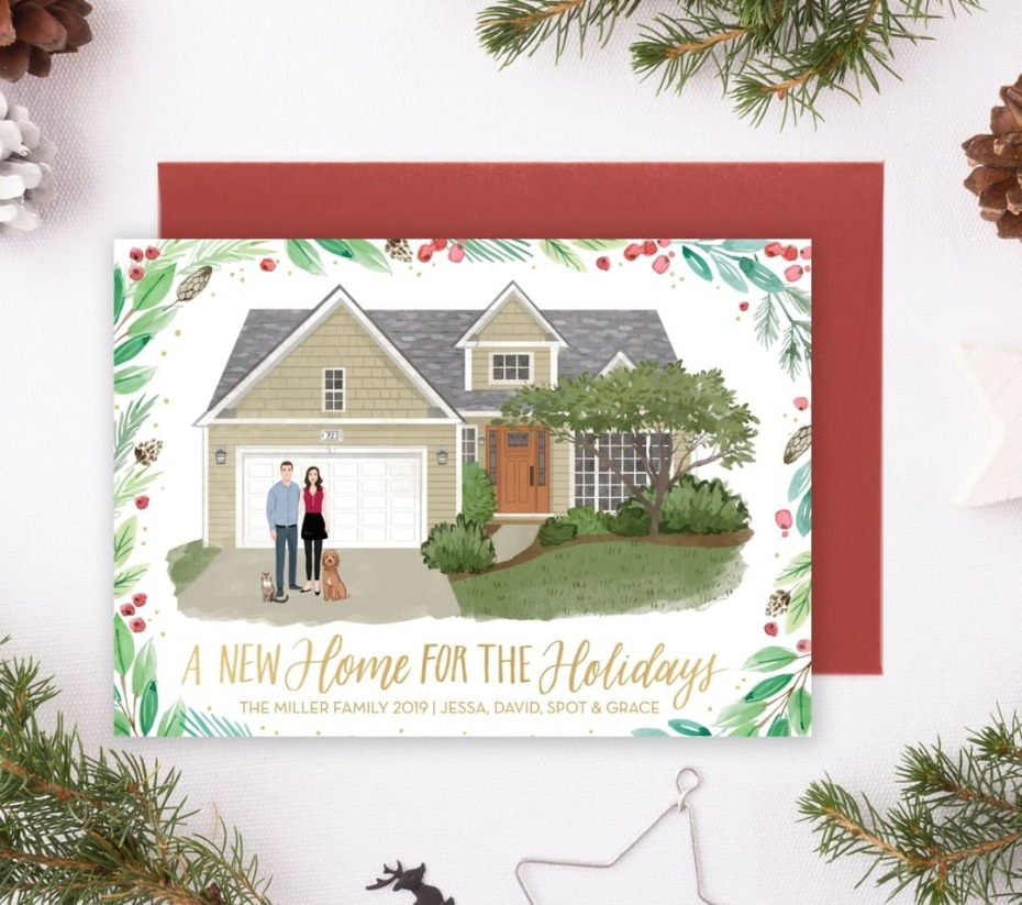 New Home for Holidays Holiday Card