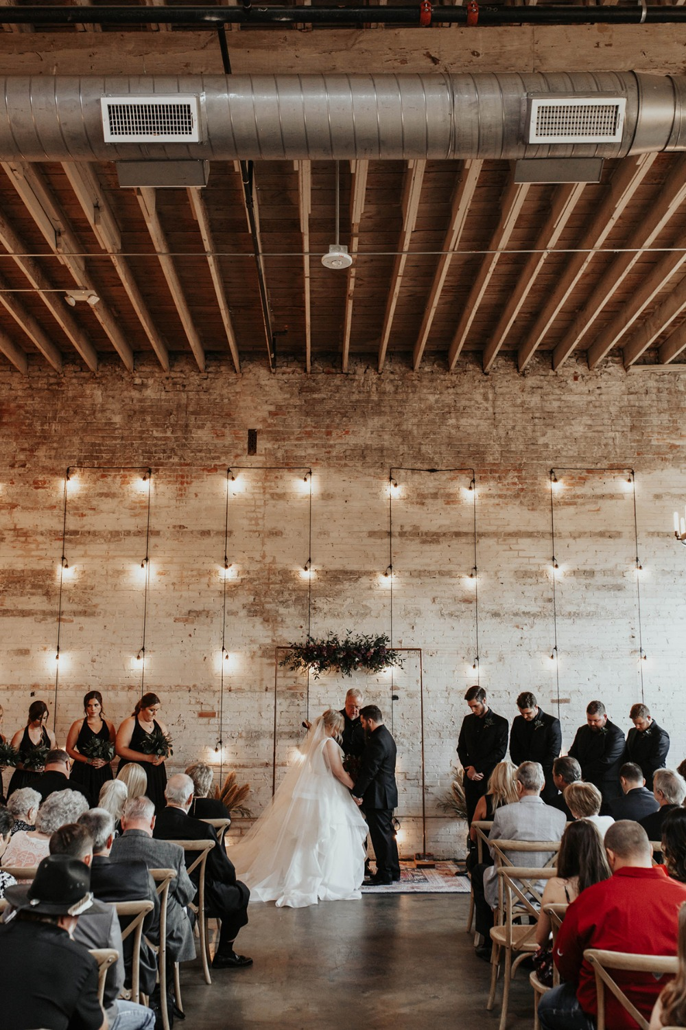 modern and minimal wedding ceremony decor