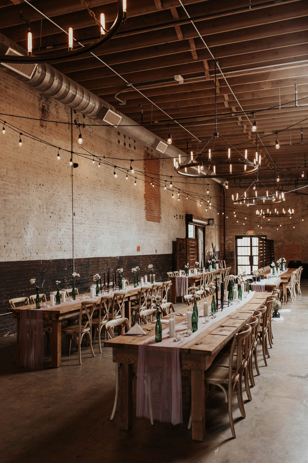 family style warehouse reception seating