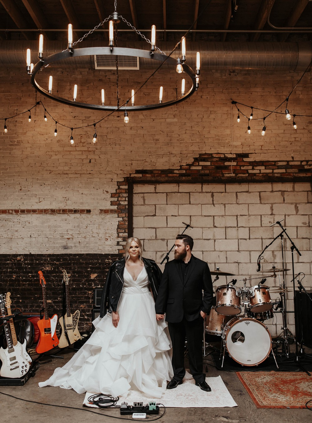 rockstar wedding portraits