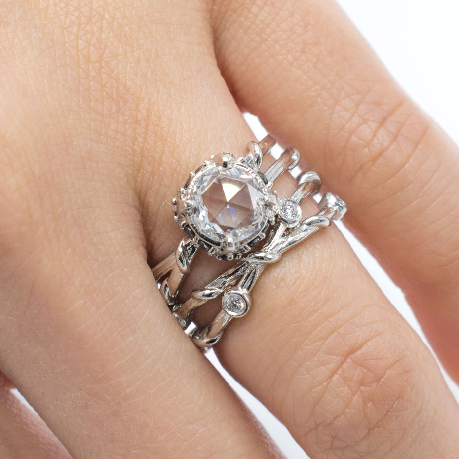 Karen Karch Platinum Engagement Ring