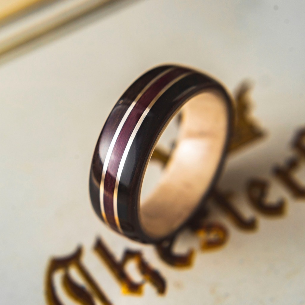 This is not your ordinary men's wedding ring. This is a handcrafted Bentwood Ring made out of all organic materials. These rings are