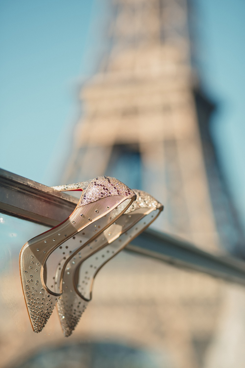 Bridal heels in Paris