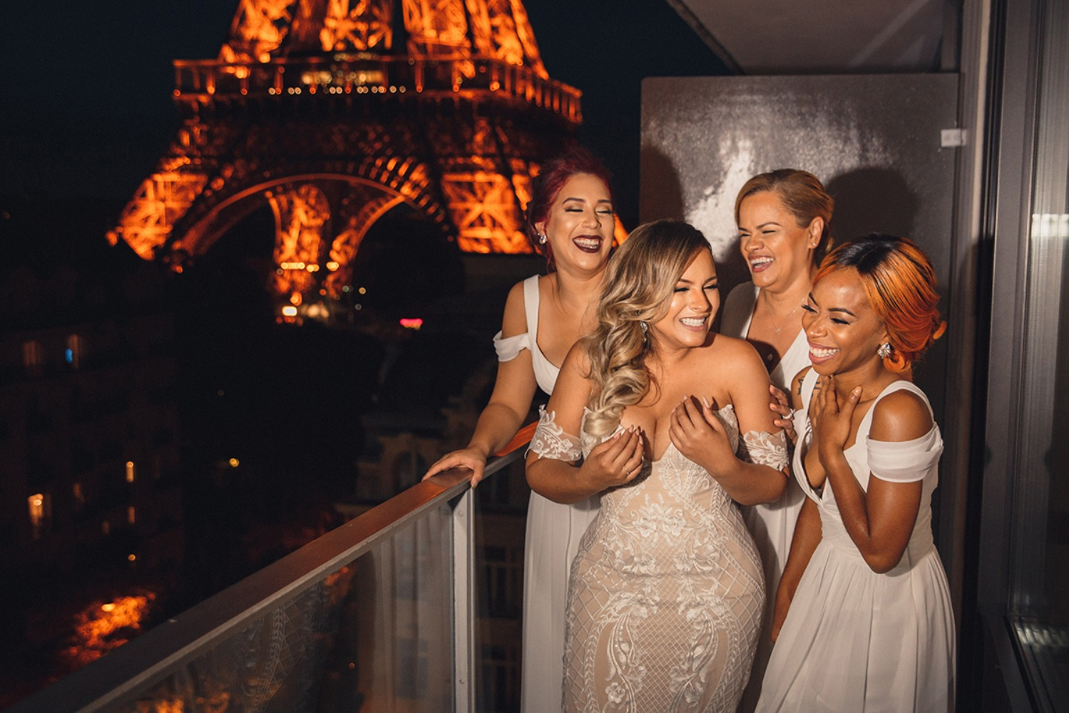 White wedding in Paris