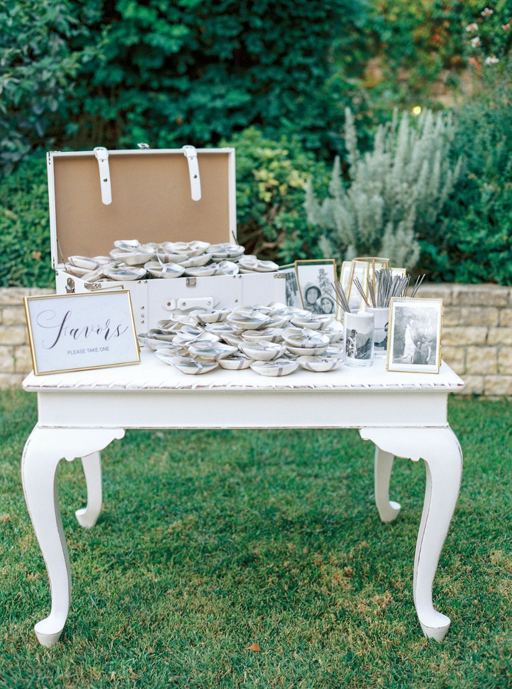wedding favors table