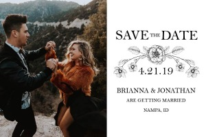 Print: The Botanical Invitation Suite Save the Date