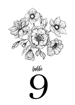 The Botanical Invitation Suite Table Number