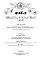 The Botanical Invitation Suite Menu