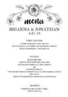 Print: The Botanical Invitation Suite Menu