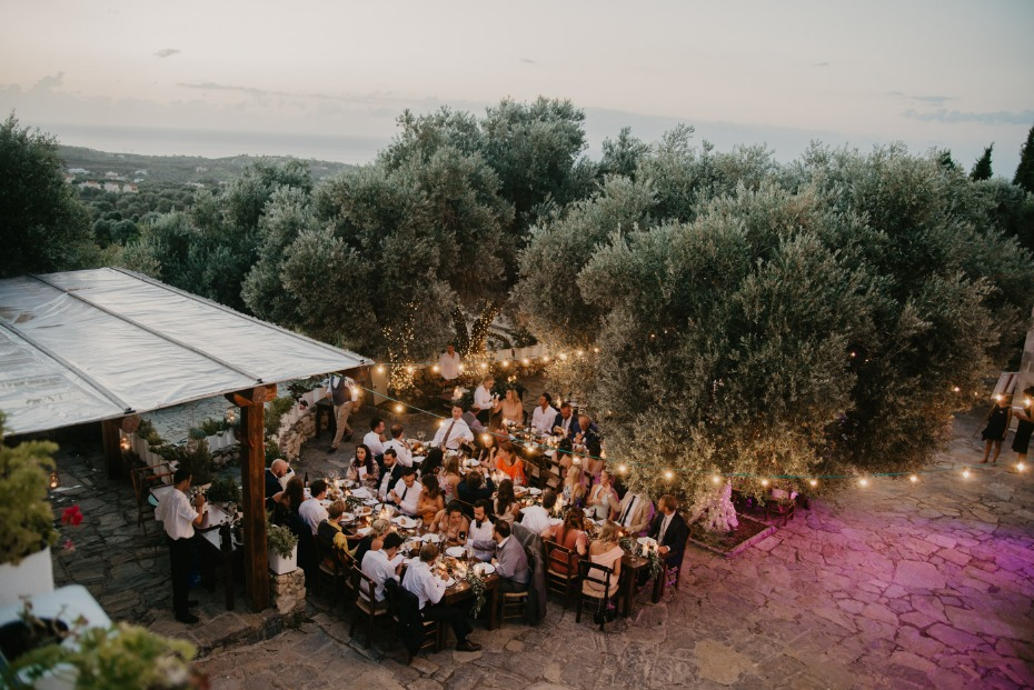 Outdoor reception in Crete